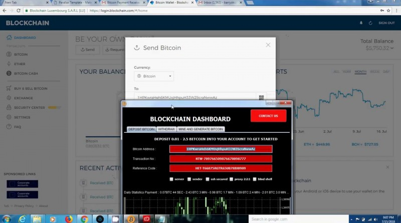 Bitcoin blockchain hack miner and generator software 2018